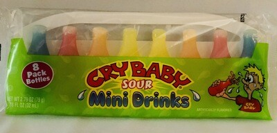Cry Baby Sour Wax Bottles 8 Pack
