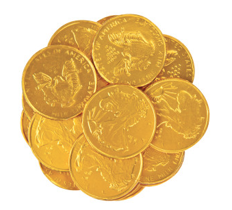 Milk Chocolate Gold Foil Coins