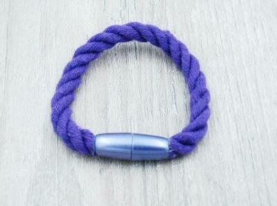 Purple Nautical Rope Bracelet