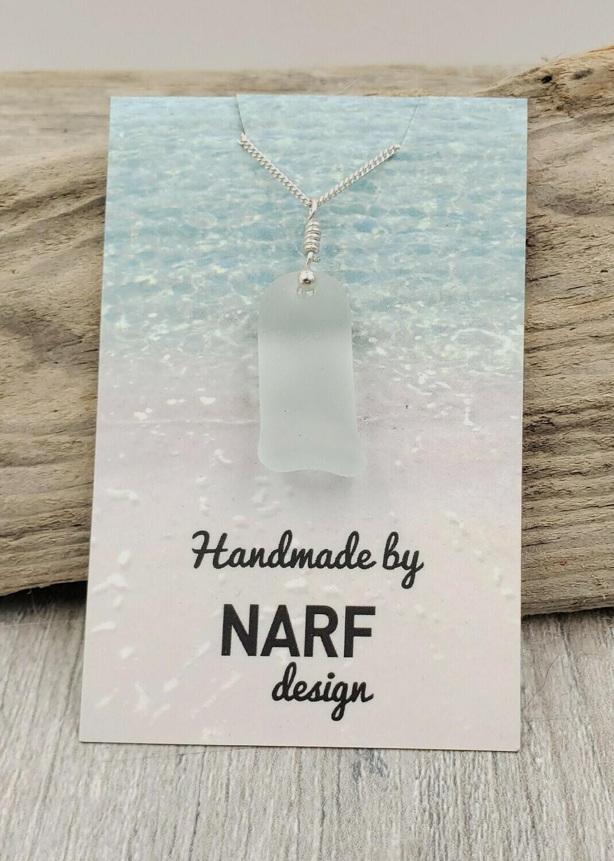 Pale Seafoam Green Lake Erie Beach Glass Necklace