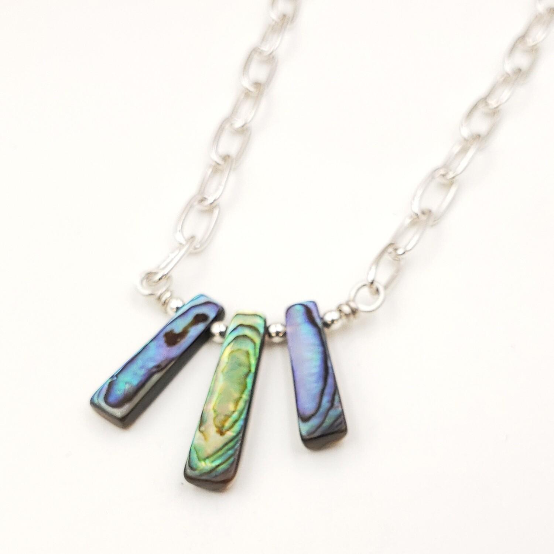 Abalone Shell Bib Necklace