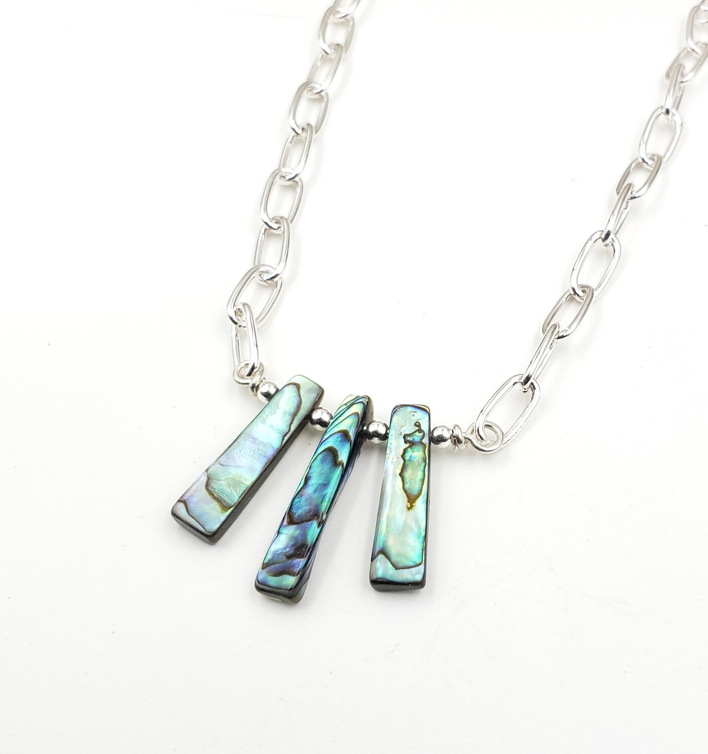 Abalone Shell Bib Necklace
