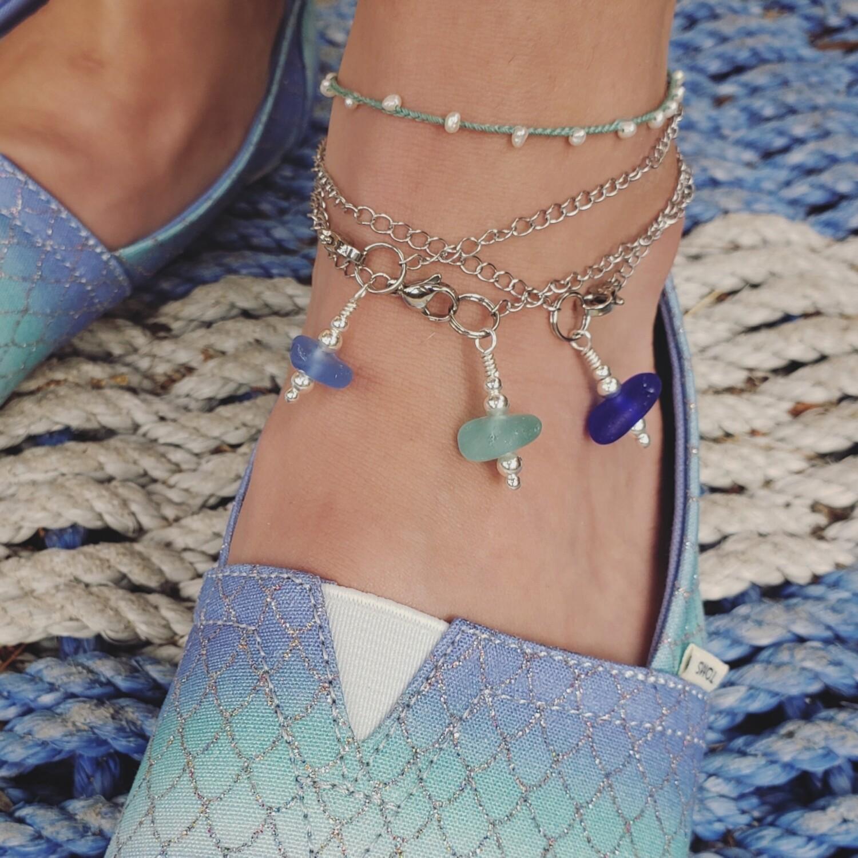 Lake Erie Beach Glass Anklet