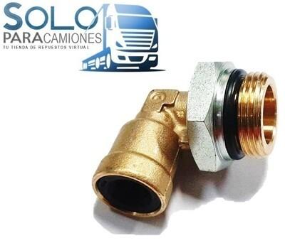 CONEXION METAL RAPIDA  M22X1.5 TIPO CODO 10MM