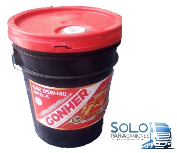 ACEITE TRANSMISION SUPER 85W-140 GL-5 PAILA 19LTS. GONHER