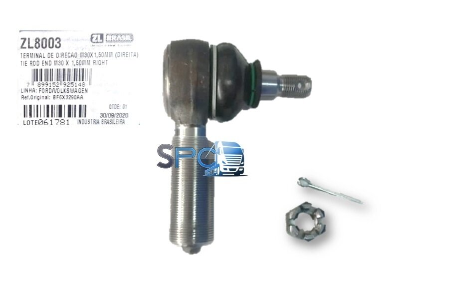 TERMINAL DE DIRECCION 20mm IZQUIERDO M30x1,50mm FORD CARGO 815 / 816 / VERTIS