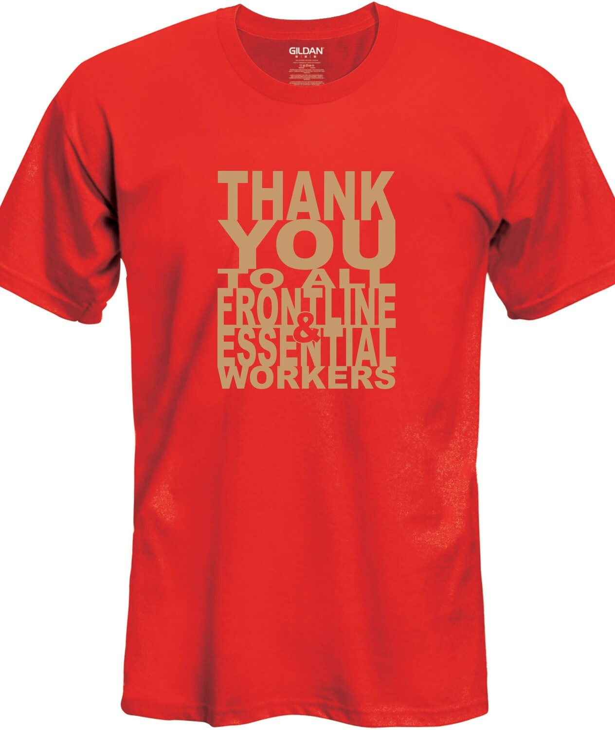 Thank You T-Shirt (Gold on Red)