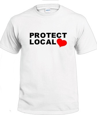 Protect Local T-Shirt (Black & Red on White)