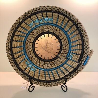 Pine Needle Basket, Copper