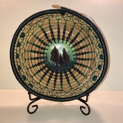 Pine Needle Basket, Green Forrest