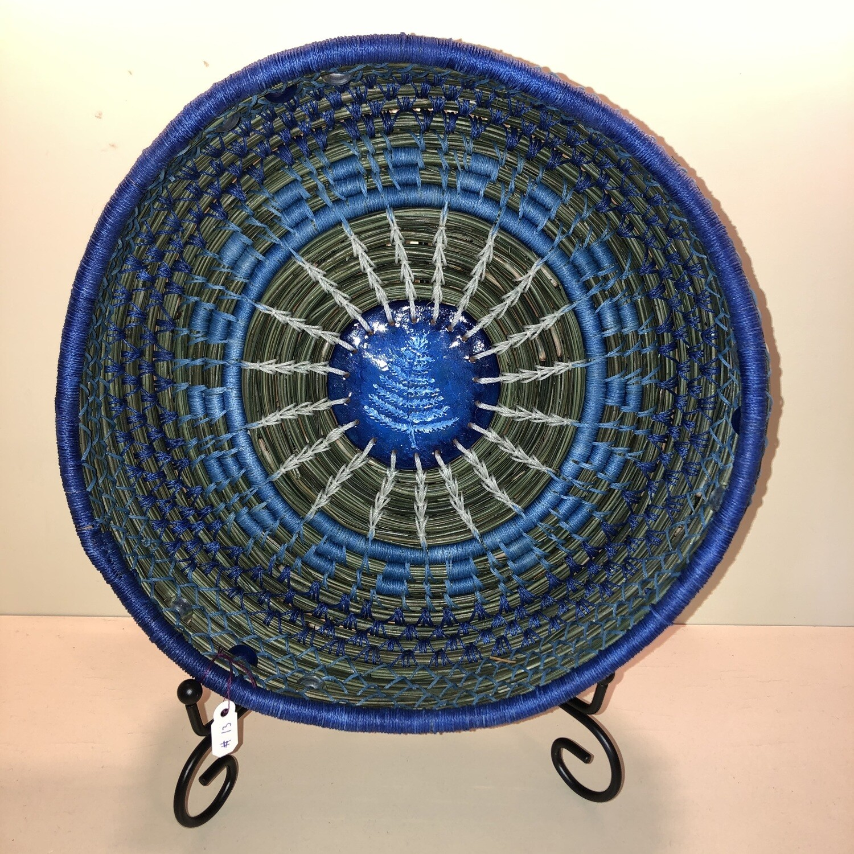 Pine Needle Basket, Ice Crystal