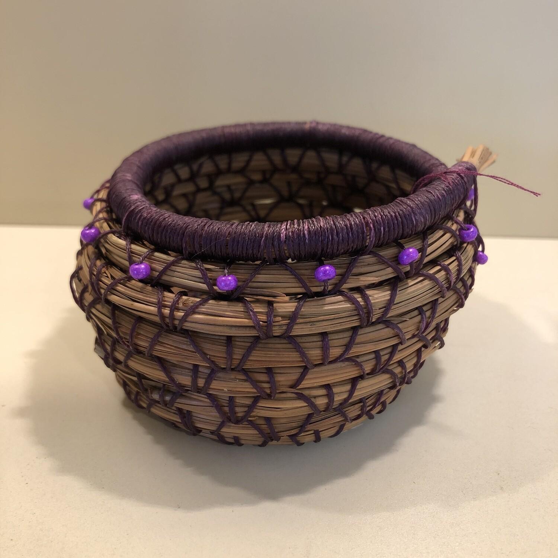 Pine Needle Basket, Purple Box