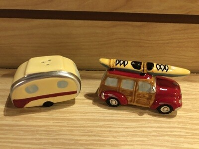 Woody and Trailer Salt and Pepper Shakers