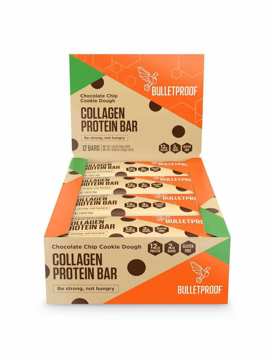 Bulletproof Collagen Protein Bar - Chocolate Chip Cookie Dough