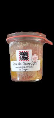 Pâté de Campagne aux foies de volaille et au Cognac 100g