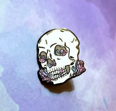 Candy Crystal Skull Enamel Pin