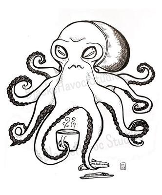 Oscar the Hipster Octopus Print