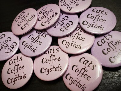 Cats Coffee Crystals Button
