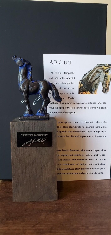 Amanda Markel Bronze Sculpture Wine Stopper- Point North