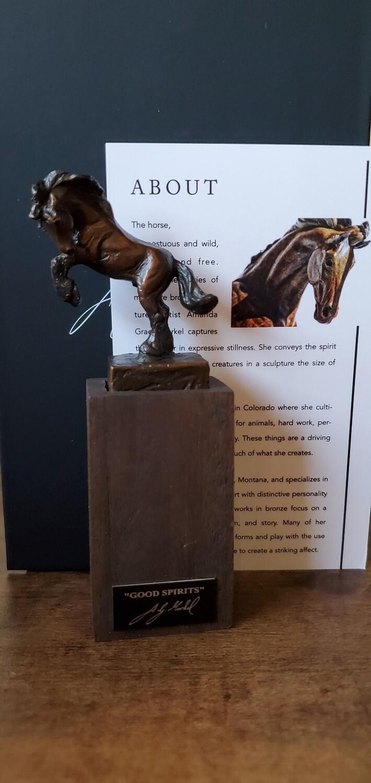 Amanda Markel Bronze Sculpture Wine Stopper- Good Spirits