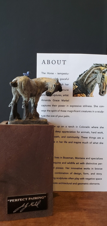 Amanda Markel Bronze Sculpture Wine Stopper- Perfect Pairing