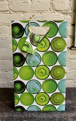 Green Glass- Two Bottle Wine Bag