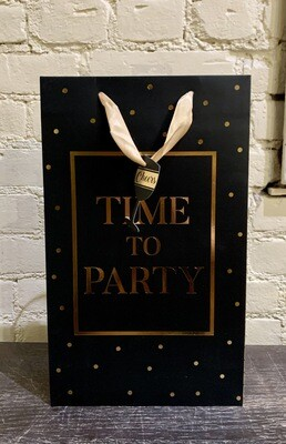 Time To Party- Two Bottle Wine Bag