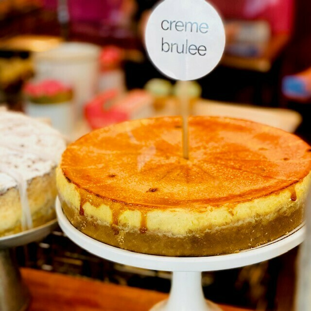 Slice Vanilla Bean Creme Brulee Cheesecake
