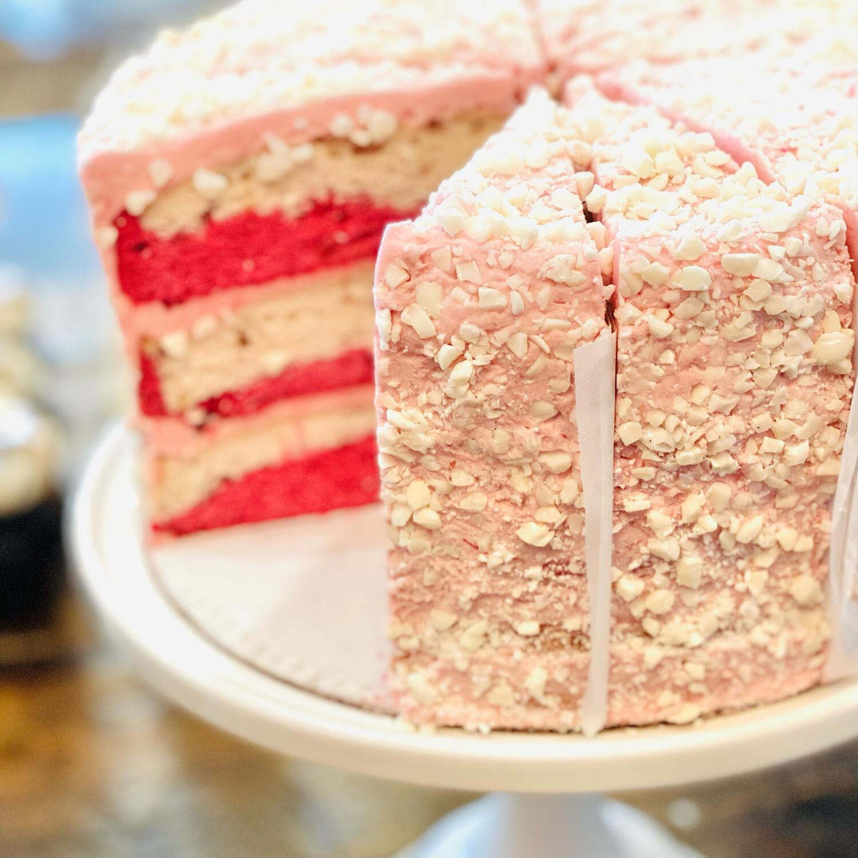 "Slice Strawberry ""Milkshake"" Layer Cake"