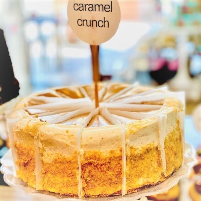 Slice Caramel Crunch Layer Cake