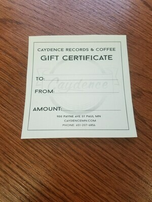 Caydence Gift Certificate