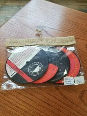 4 Pack Vinyl Coasters