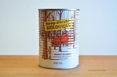 Sirop d'érable biologique - Ambré goût riche (1 canne)