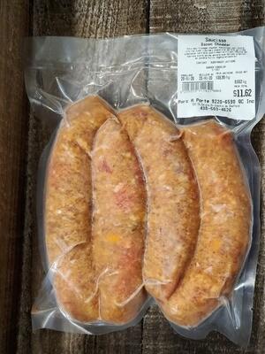 Porc-Saucisse Bacon Cheddar