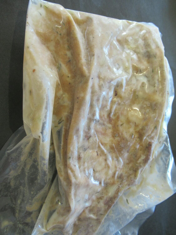 Agneau-Côtes levées d'agneau cuite dijonnaise/sirop d'érable