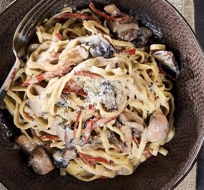 Fettucini sauce aux champignons