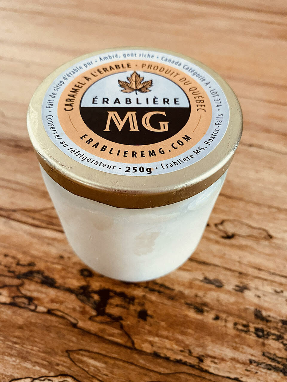Crème glacée caramel à l'érable et café turque