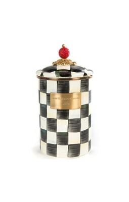 CC enamel canister large
