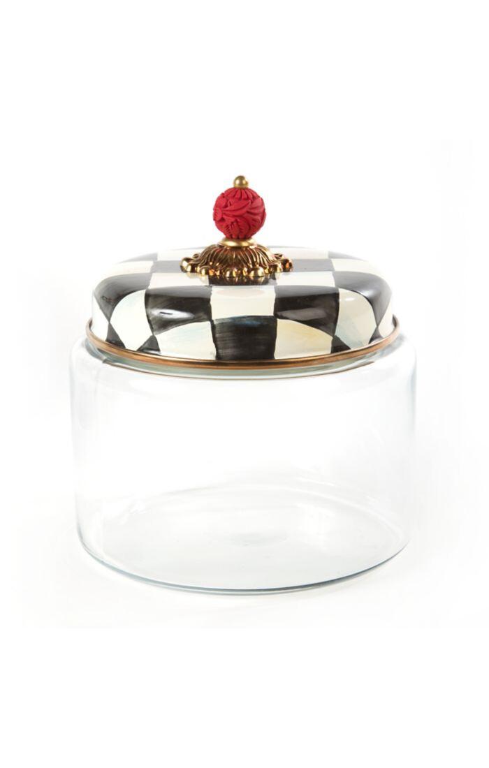 CC enamel kitchen canister medium