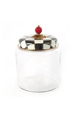 CC enamel kitchen canister large