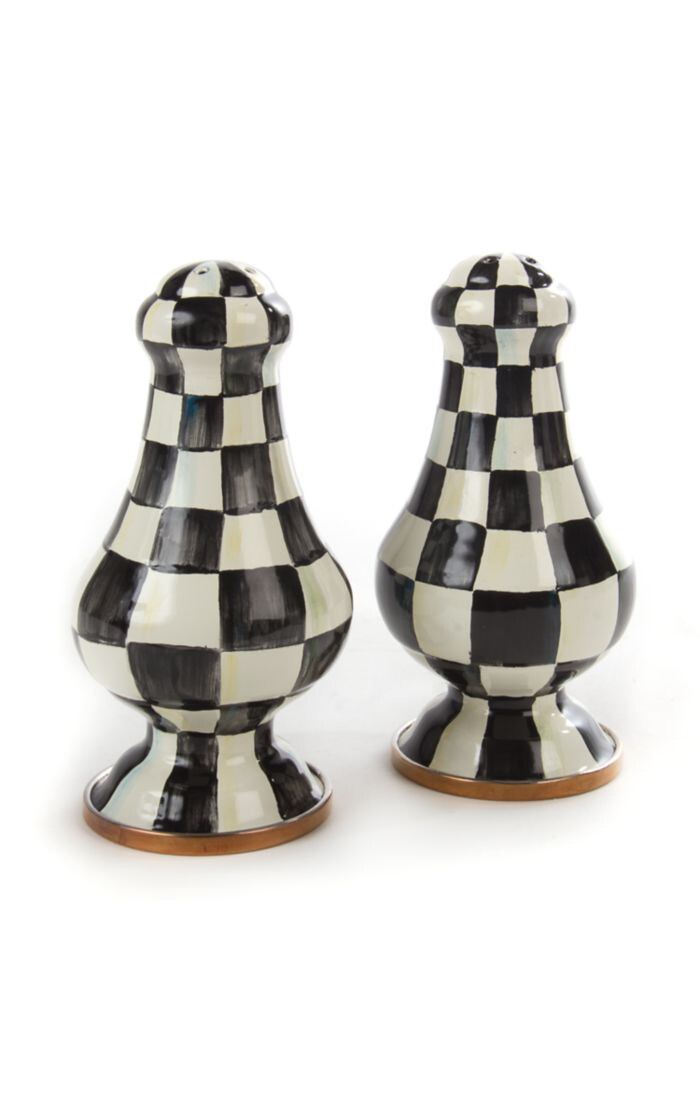 CC Enamel Large Salt & Pepper Shakers