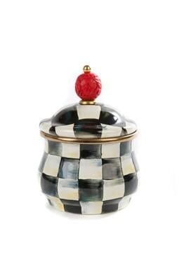 CC enamel lidded sugar bowl