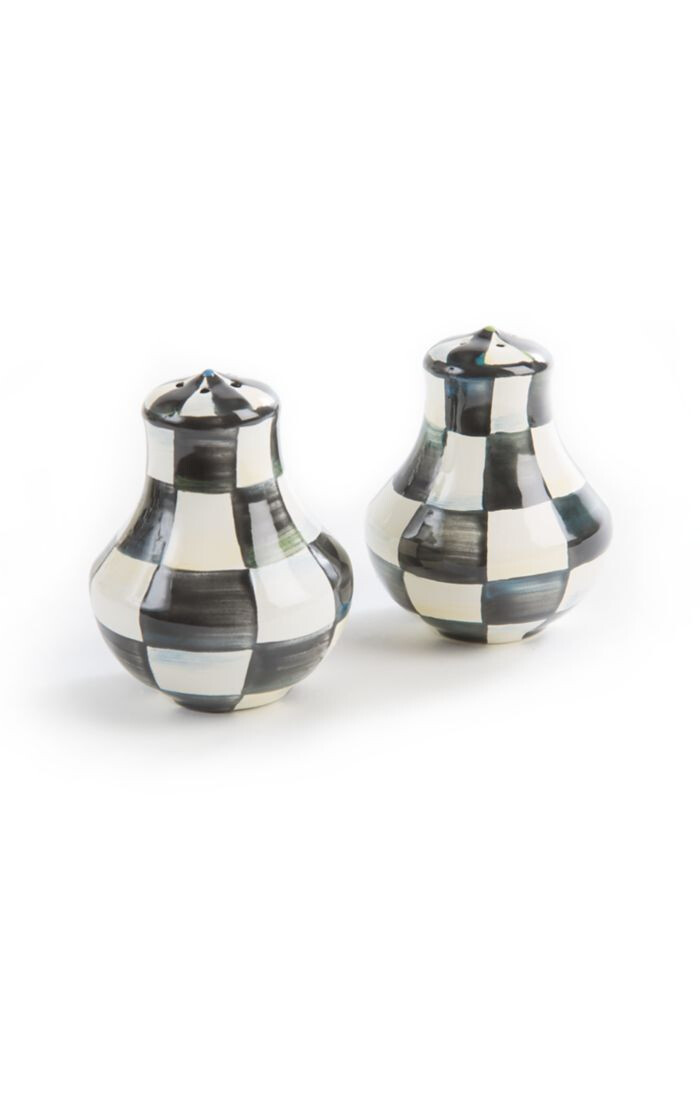CC enamel salt and pepper shakers
