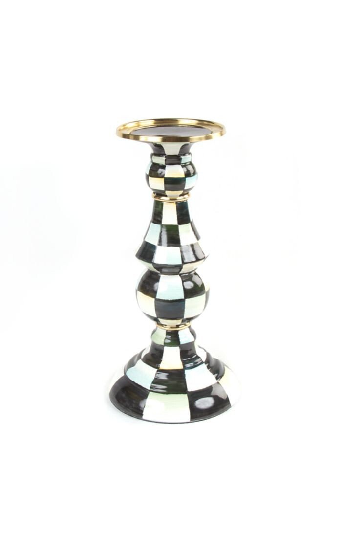 CC Enamel Pillar Candlestick - Large