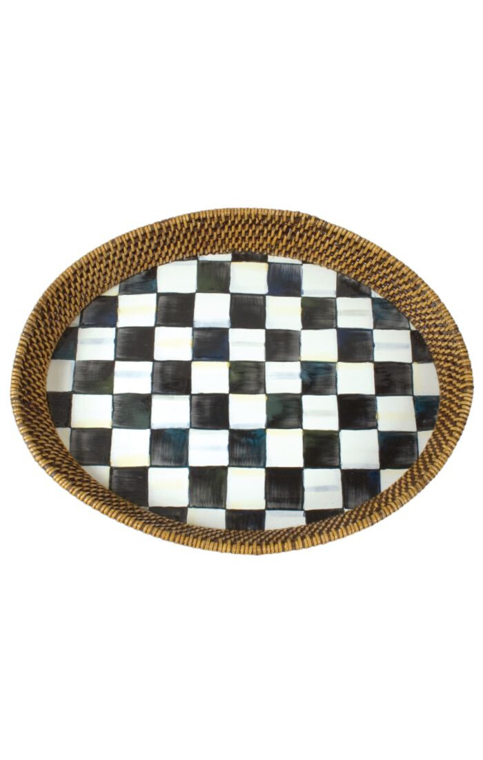 CC rattan tray large