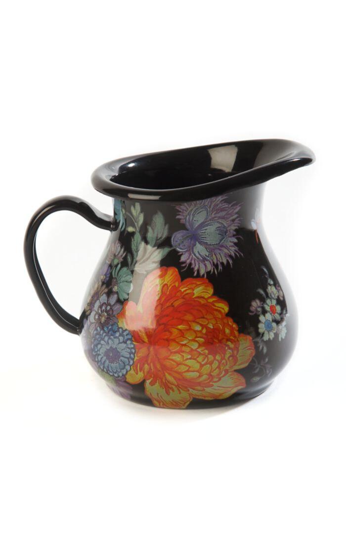 Flower market creamer black