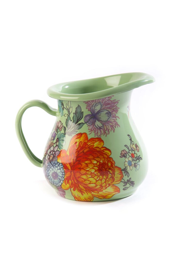 Flower market creamer green