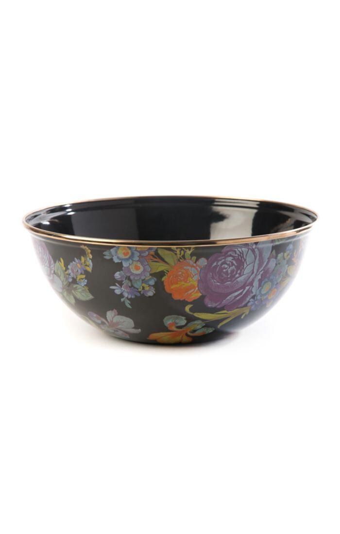 Flower market everyday bowl medium black