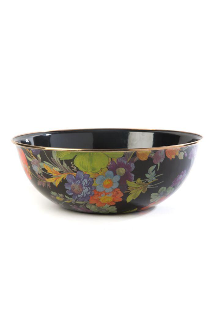 Flower market everyday bowl extra large black