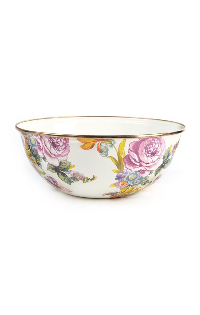 Flower market everyday bowl medium white